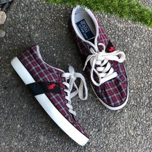 Polo by Ralph Lauren Plaid Logo Sneakers